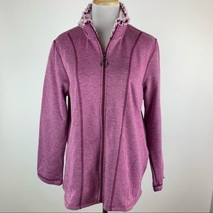 Cuddl Duds Zip Front Sweatshirt Medium